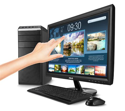Monitor Led Touchscreen 19 Inch Berkualitas asus vt207n 49 5 cm 19 5 quot led touchscreen dvi d bei notebooksbilliger de