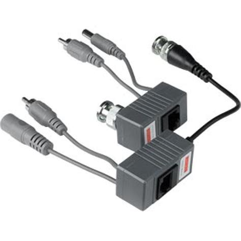 Vidio Balun For Cctv bnc balun with power and audio for cctv utp cat 5 cable rj45