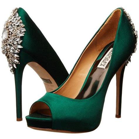 emerald high heels badgley mischka kiara 16 265 inr liked on polyvore