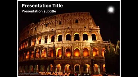 powerpoint themes rome ancient rome powerpoint presentation youtube