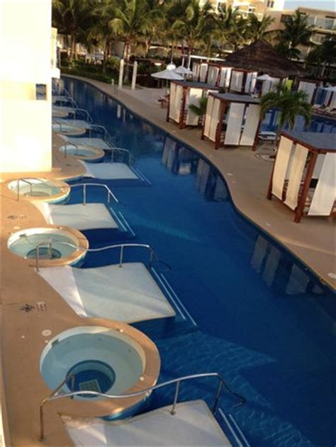 azul sensatori premium section premium section pool looking down on premium jacuzzi swim