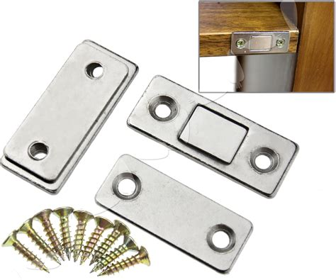 Magnets For Cabinet Doors 2pcs Ultra Thin Door Catch Latch Furniture Magnetic Cabinet Cupboard Glass Ebay