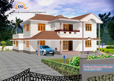 new home design 5 beautiful home elevation designs in 3d kerala home