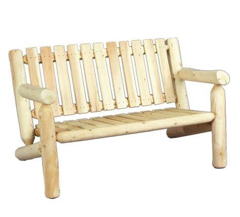 rustic cedar log style wood garden bench reviews wayfair cedarlooks 0100006 4 feet log cedar bench rustic touch