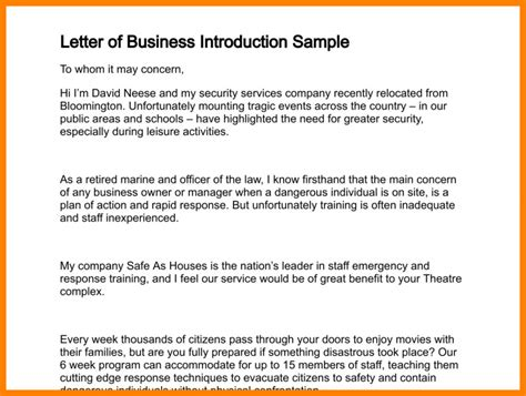 Business Letter Template Self Introduction 8 how to write a business introduction email
