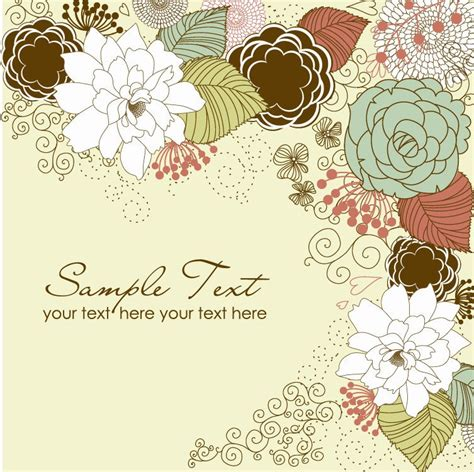 flower design greeting cards floral greeting card free vector graphics all free web