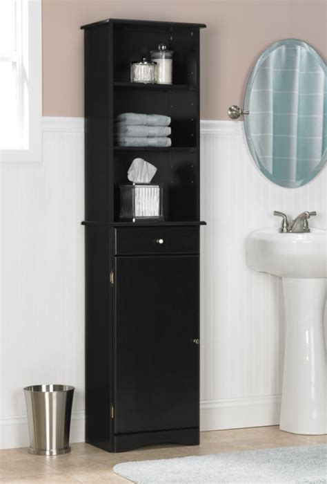 Bathroom Tall Bathroom Storage Cabinets For A Tidy Narrow Bathroom Storage Tower