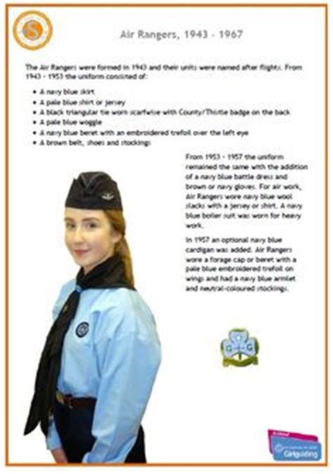 guides senior section uniform senior guides 1916 from girlguiding scotland series of