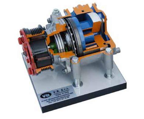 rotary scroll compressor cutaway