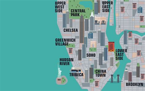 map of nyc with landmarks explore thousands of new york city landmarks with this