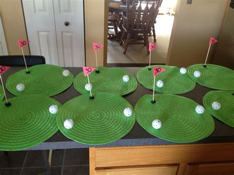 party themes golf golf themed birthday party these center pieces were made