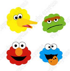 sesame street printable heads diy