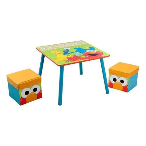 Sesame Furniture by Sesame Table And Ottoman Set Furniture Baby Toddler