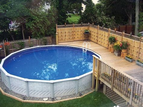 Above Ground Pool Backyard Landscaping Ideas by 40 Uniquely Awesome Above Ground Pools With Decks
