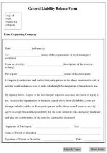 release waiver template free printable liability waiver form template form generic