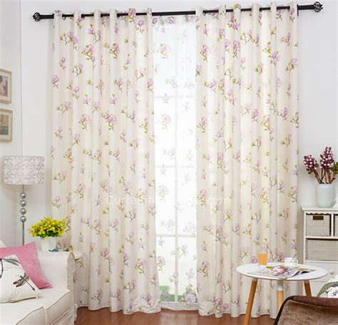 floral bedroom curtains eco friendly linen cotton pink floral pattern girls