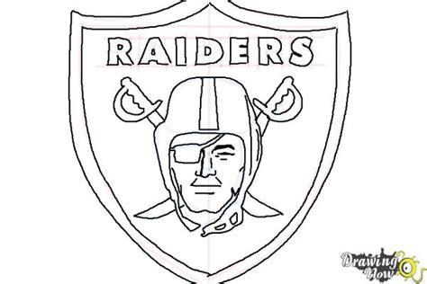 draw  oakland raiders nfl team logo drawingnow