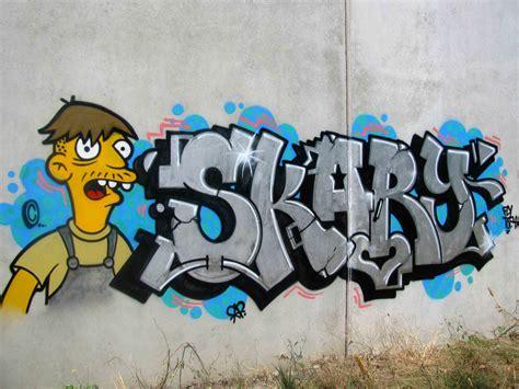 graffiti los simpsons gusto por el vandalismo