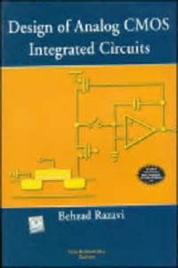 design of analog cmos integrated circuits 1st edition buy book at low price design of analog cmos integrated circuits by behzad razavi bring