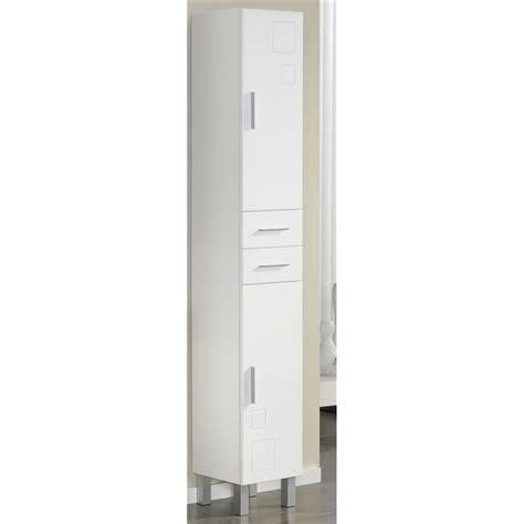 armadio per bagno armadio bagno 2 ante e 2 cassetti 30 cm bianco kerria