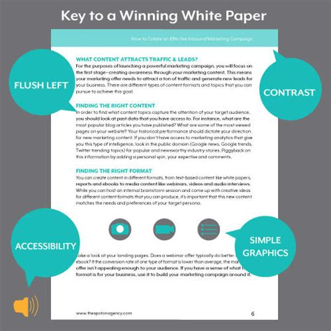 white paper format for content caigns