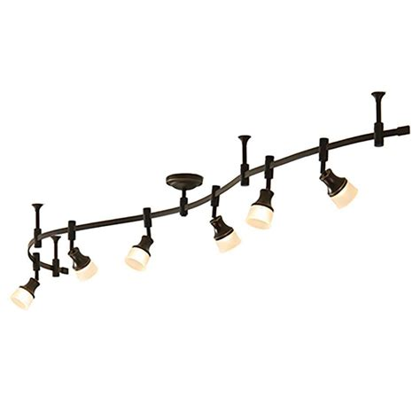 allen roth 4 head decorative track light lowes led track lighting iron blog