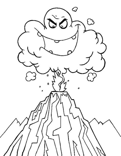 free printable volcano coloring pages ghost emoticon volcano coloring pages 30249