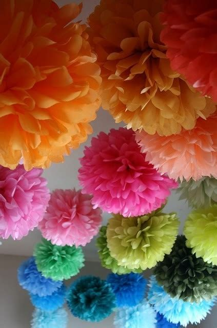 How To Make Pom Pom Balls With Tissue Paper - how to make tissue paper pom pom balls