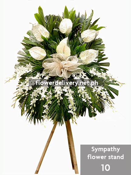 Sympathy Flowers Delivered - sympathy flower stand 10 flower delivery in metro manila
