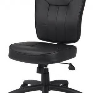 Leather Desk Chair No Arms Leather Office Chair No Arms