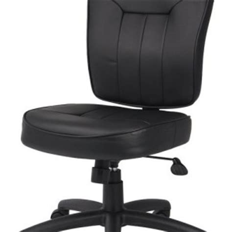 Office Chairs No Arms by Leather Office Chair No Arms