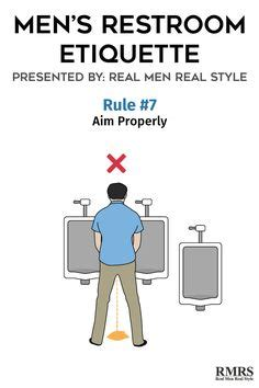 male bathroom etiquette men s restroom etiquette infographic