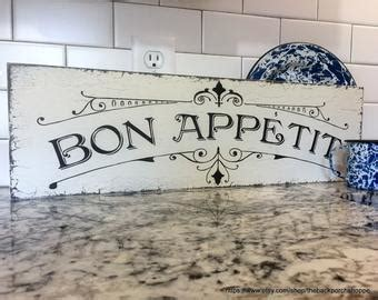 bon appetit signs for kitchen wedding signs shabby chic signs vintage home by thebackporchshoppe