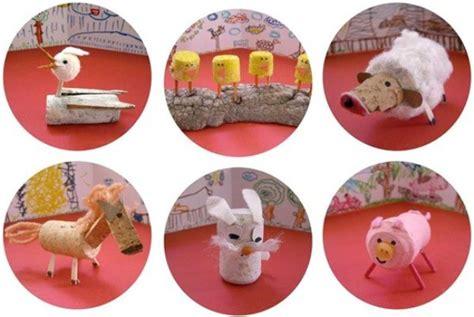 imagenes de animales reciclados juguetes caseros animales con tapones de corcho
