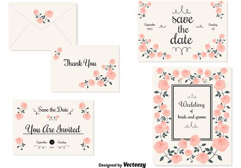 Wedding Card Invitation Vector by Wedding Invitation Cards Free Vector Stock