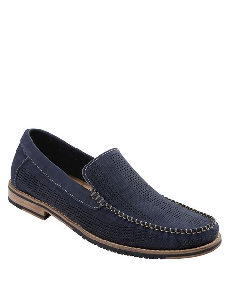 bahama loafers bahama felton perforated nubuck leather loafers in