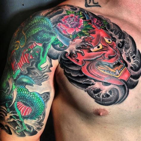 hannya mask and dragon tattoo meaning 247 best images about masks on pinterest chinese tattoos