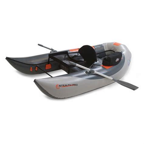 outcast inflatable pontoon boats outcast stealth pro inflatable pontoon style boat
