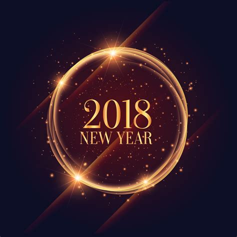 new year 2018 duration shiny 2018 new year frame with sparkles background
