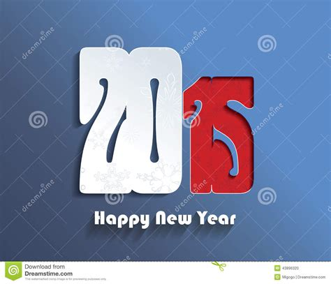 creative new year greeting cards happy new year 2015 creative greeting card stock vector