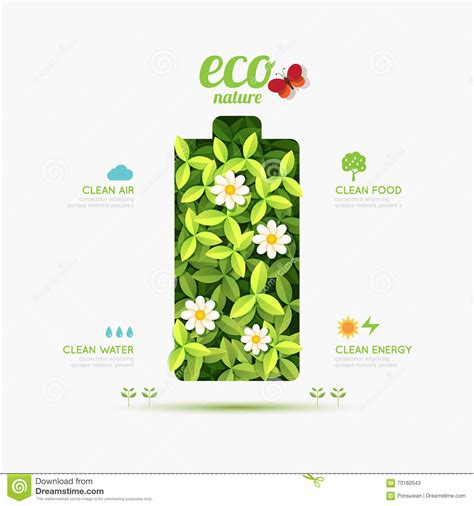 layout design nature ecology infographic battery symbol shape design save