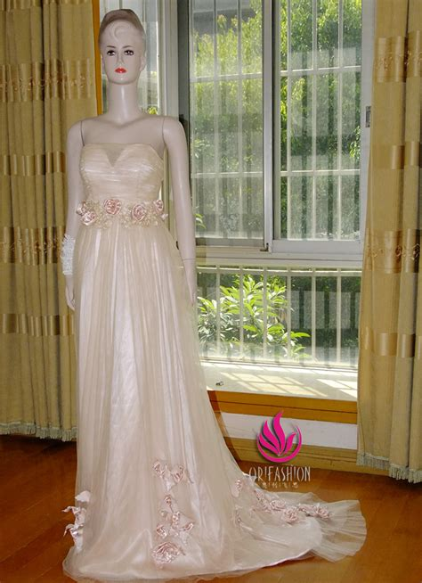 Handmade Prom Dresses - handmade customized tulle evening prom dress rc022