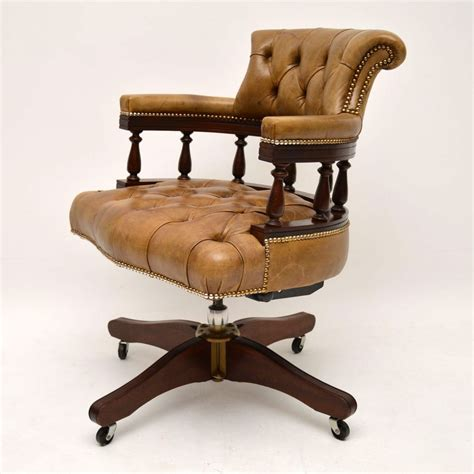 antique swivel desk chair antique leather mahogany swivel desk chair marylebone
