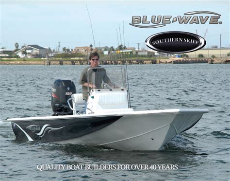 blue wave boats construction 2014 bluewave southern skiff brochure blue wave boats