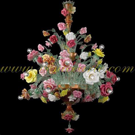ladari di murano in offerta roseto multicolore ladario in vetro di murano