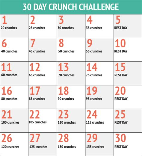 challenges 30 day squat challenge 30 day ab challenge 30