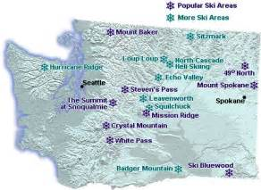 ski resorts oregon map map of downhill ski areas in washington state go