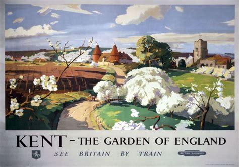 kent  garden  england vintage br sr travel poster