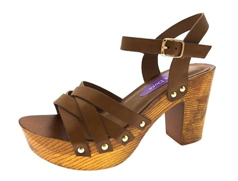 clog heels sandals womens stacked platform sandals chunky block high heels