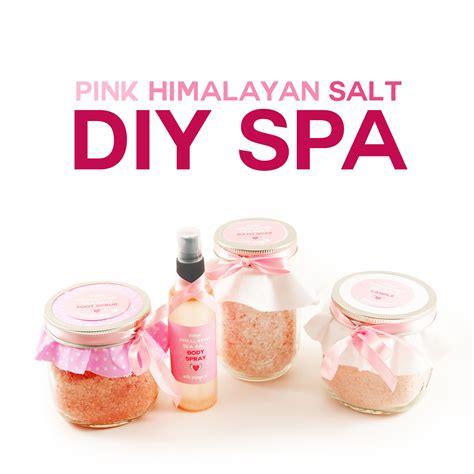 diy himalayan salt l diy pink himalayan salt spa scrub soak spray candle